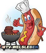 hot-dog-cartoon-grilling-on-a-barbe-vector-illustration_k14596809